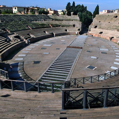 Midden van het Amfitheater van Pozzuoli