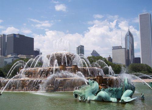 Beeld van Buckingham Fountain