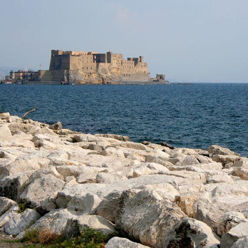 Vergezicht op het Castel dell'Ovo