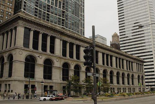 Totaalbeeld van het Chicago Cultural Center