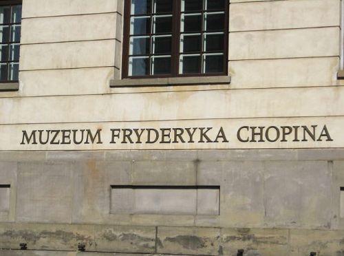 Naambord Chopinmuseum