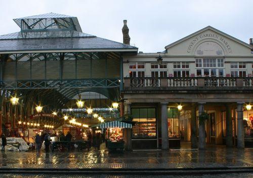 Zicht op de Covent Garden Market