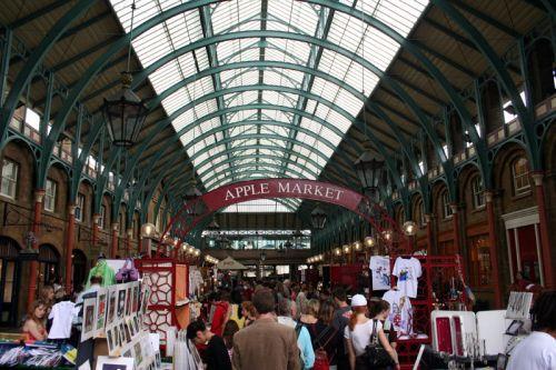Binnen in de Covent Garden Market