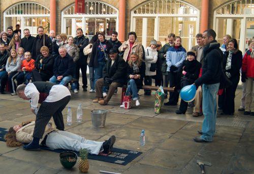Straatartiesten in Covent Garden