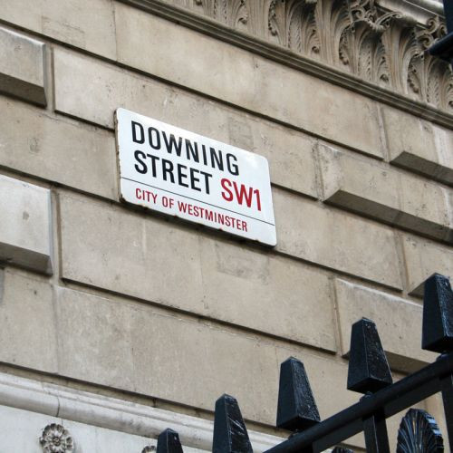 Naambord van Downing Street