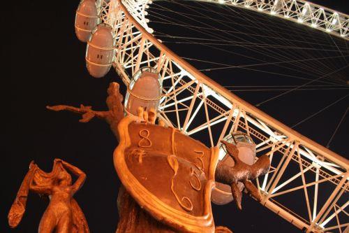 Onder aan het London Eye