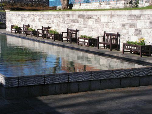 Vijver in de Garden of Remembrance