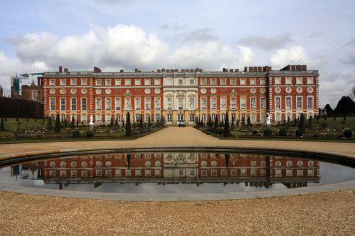 Gevel van het Hampton Court Palace