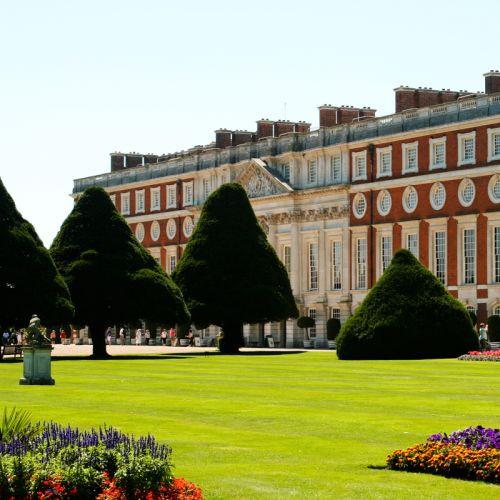 Tuin voor het Hampton Court Palace