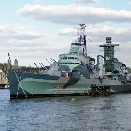 Beeld van de HMS Belfast