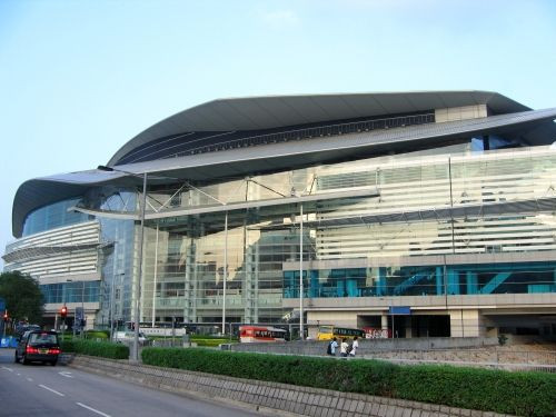 Gevel van het Hong Kong Convention and Exhibition Centre