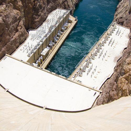 Water aan de Hoover Dam
