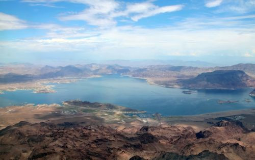 Vergezicht op Lake Mead