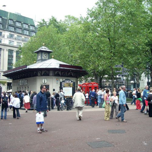 Mensen op Leicester Square