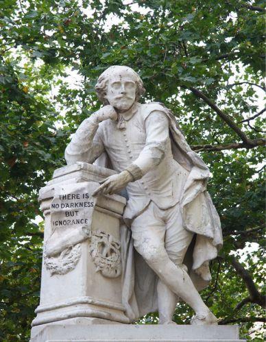 Beeld van Shakespeare