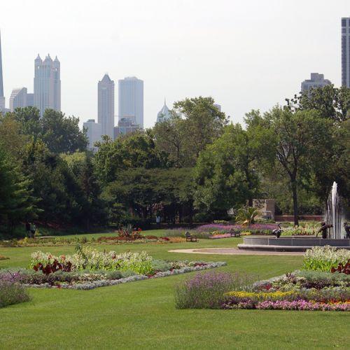 Zicht op Lincoln Park