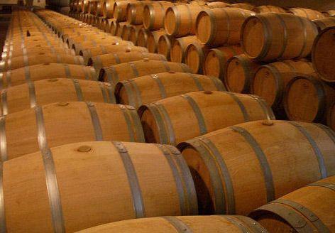 Wijnvaten in Bordeaux