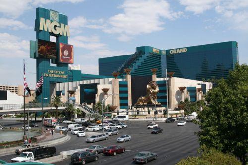 Zicht op het MGM Grand-hotel