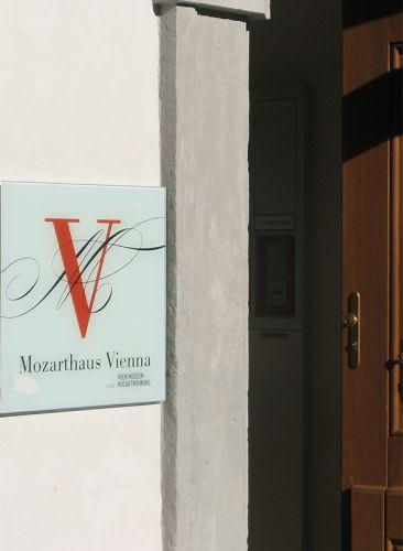 Deur van het Mozarthuis