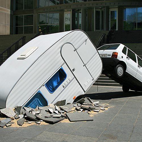 Kunstwerk voor het Museum of Contemporary Art