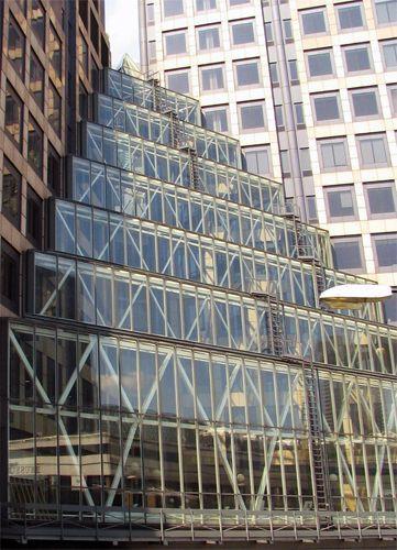 Glaspartij van het Museum of London