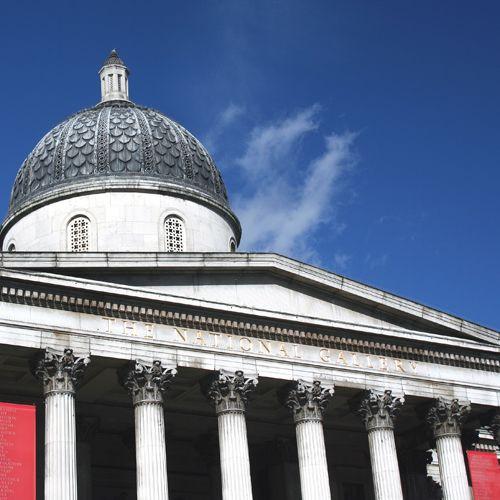 Koepel op de National Gallery