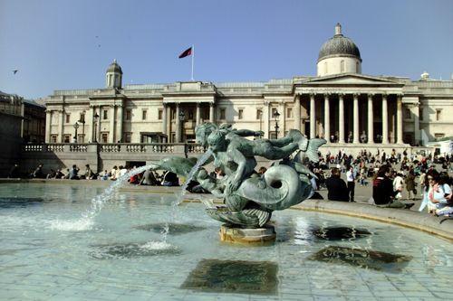 Fontein op Trafalgar Square