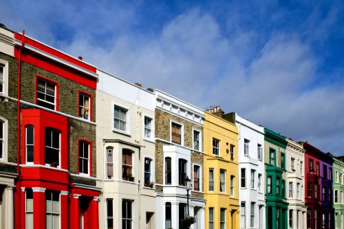 Straatbeeld in Notting Hill