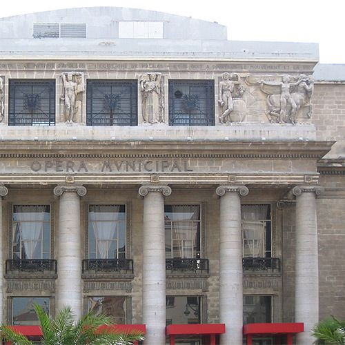 Voorkant van de Opéra Municipal