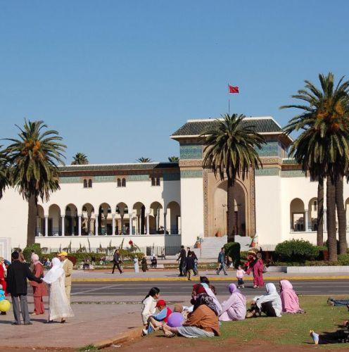 Gebouw bij de Place Mohammed V