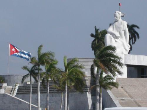 Beeld op de Plaza de la Revolución