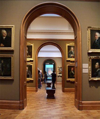 Binnen in de National Portrait Gallery