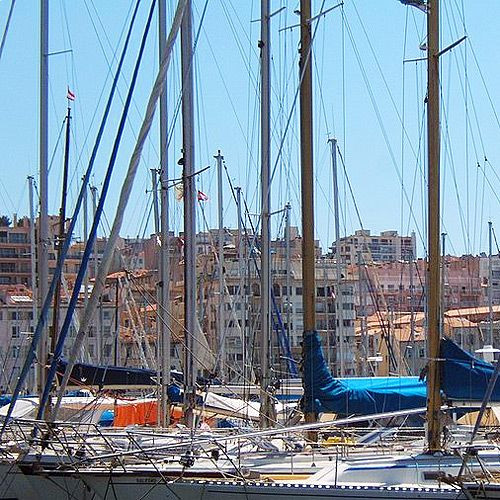 Zeilpboten aan de Quai du Port