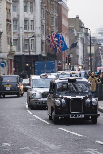 Taxi's op Regent Street
