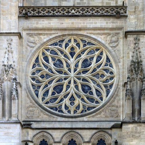 Rosette van de Cathédrale Saint-André