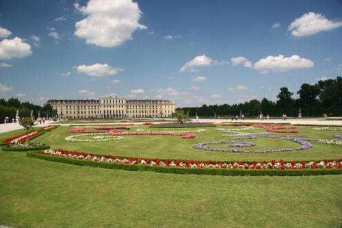 Perkje in de Schönbrunntuinen