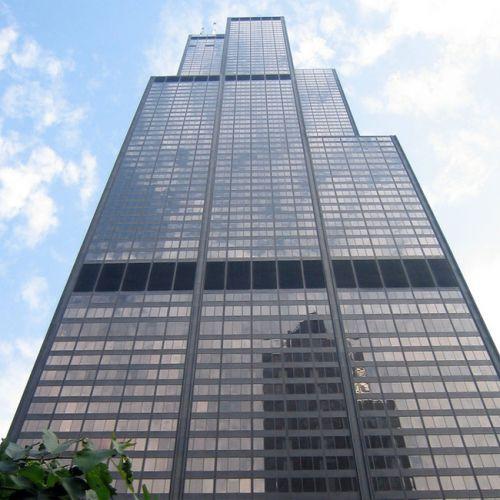 Onder aan Sears Towers