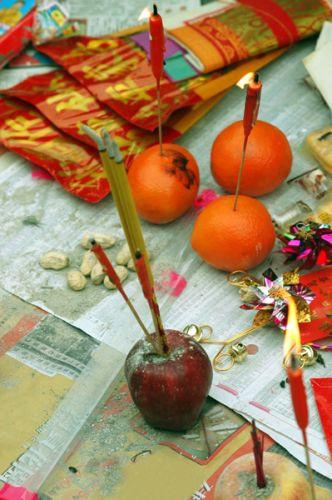 Kaarsen in de Wong Tai Sin Tempel