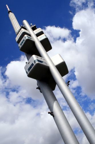Platformen van de Žižkov-televisietoren