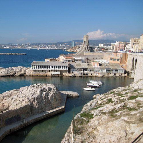 Zeezicht in Marseille
