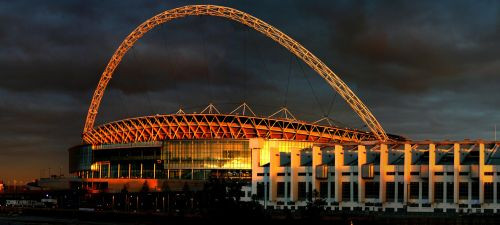 Schemerbeeld op Wembley Stadium