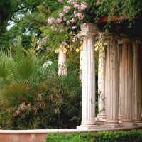 Zuilenrij in Los jardines del Real-Viveros