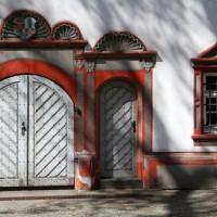 Een deur van het kasteel