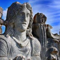 Detail van de Tempel van Zeus