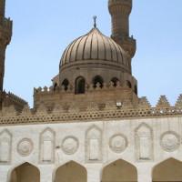 Zicht op de Al-Azharmoskee