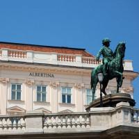 Ruiterstandbeeld in Wenen