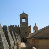 Zicht op het Alcázar de los Reyes Cristianos