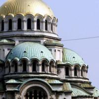 Koepels van de Alexander Nevski-kathedraal