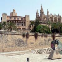 Aan het Palacio de la Almudaina