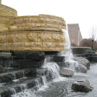 Waterval aan het National Museum of the American Indian